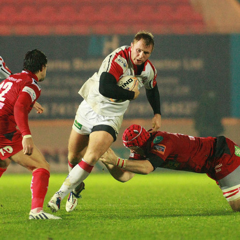 Man-of-the-match Roger Wilson in action in Llanelli