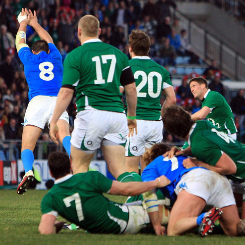 Ronan O'Gara kicked the match-winning drop goal in Rome last February