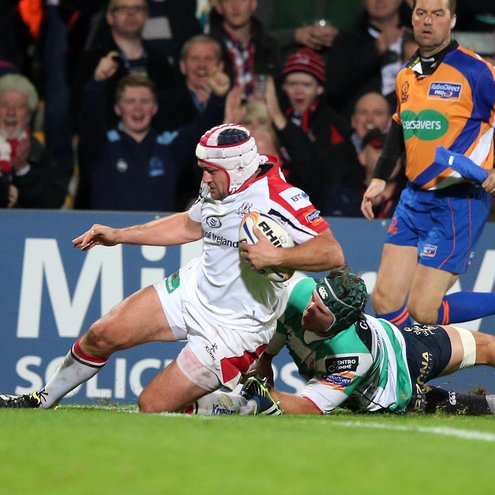 Rory Best scoring a try for Ulster