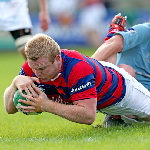 Royce Burke Flynn was one of Clontarf's try scorers
