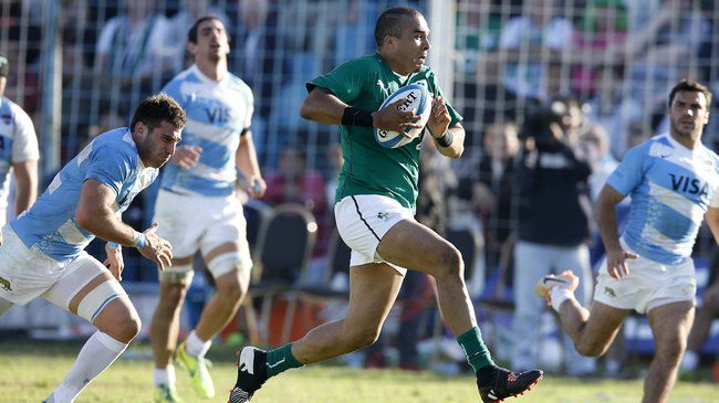 Simon Zebo darted over for Ireland's first try