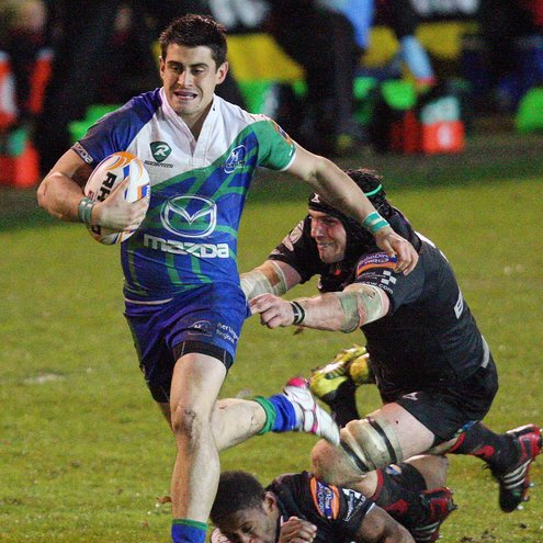 Tiernan O'Halloran makes a break for Connacht