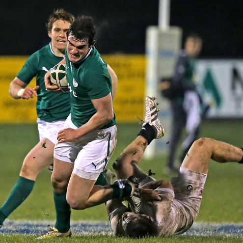 Tom Daly powers forward with ball in hand
