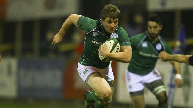 Neil Cronin action for the Ireland Club international team