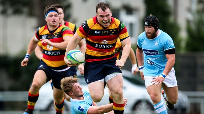 Prop Peter Dooley on the charge for Lansdowne