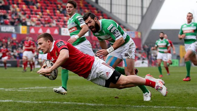 Seven-Try Rout Sends Munster To The Summit