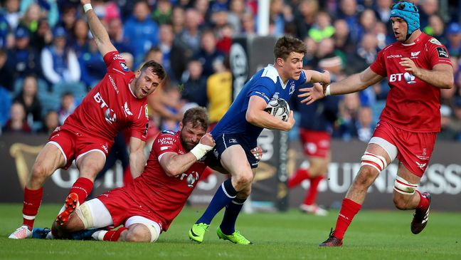 Garry Ringrose on the attack for Leinster
