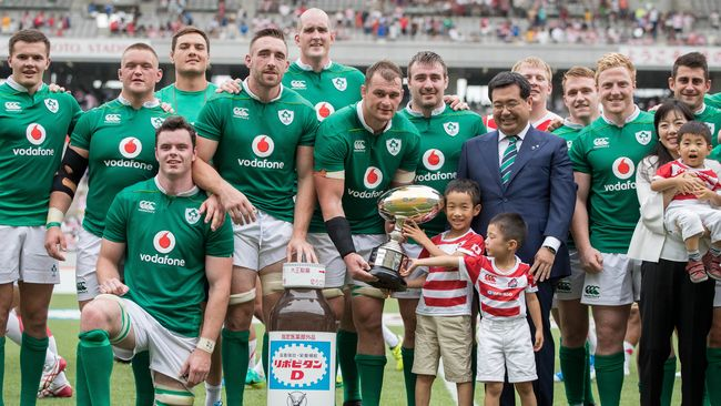 Ireland Run In Five Tries To Complete Series Win Over Japan