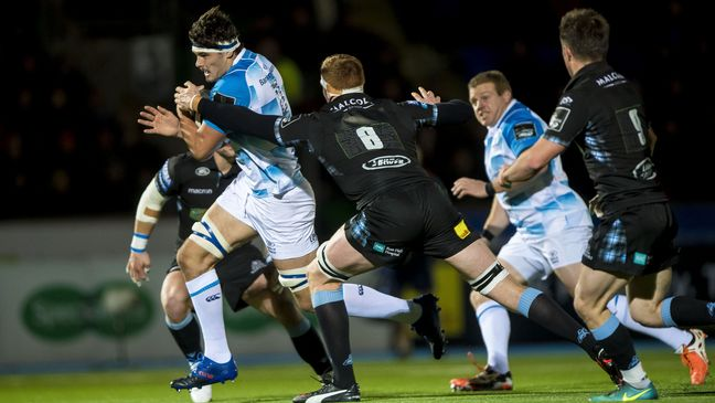 Max Deegan drives forward for Leinster
