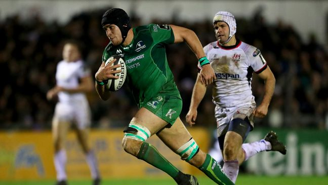 Ultan Dillane finishes off Connacht's sixth and final try