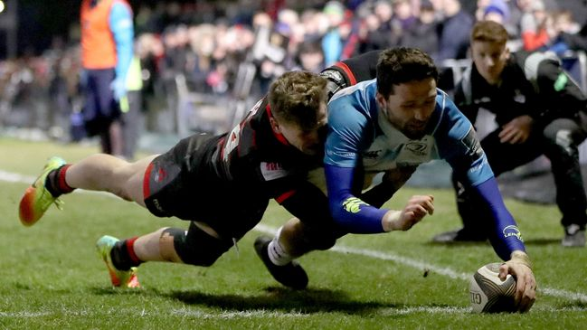 Barry Daly dives over the Edinburgh whitewash