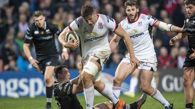 Man-of-the-match Matthew Rea in action for Ulster