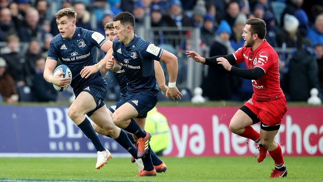 Man-of-the-match Garry Ringrose on the attack for Leinster
