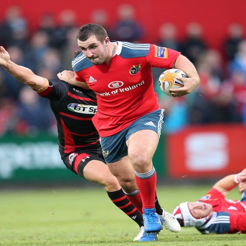 James Cronin scored one of Munster's five tries