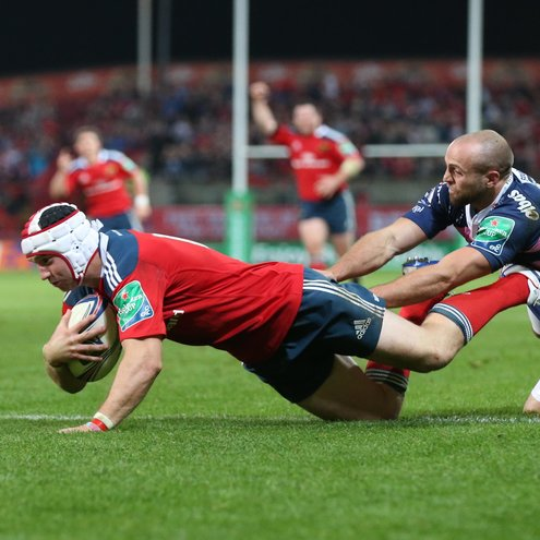 Johne Murphy scored Munster's clinching try