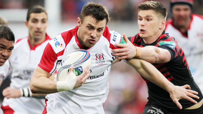 Tommy Bowe takes on the Saracens defence