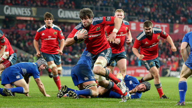 Dave O'Callaghan breaks through for Munster's third try