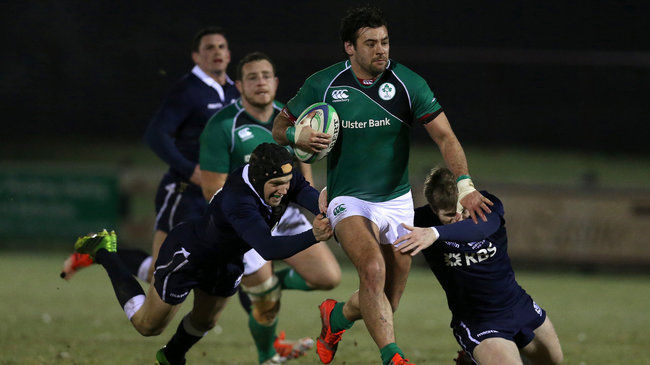 Paul Pritchard in action for Ireland