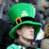 Irish fan looks on