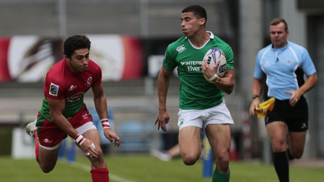 Jordan Conroy in action during the Rugby Europe Grand Prix Series