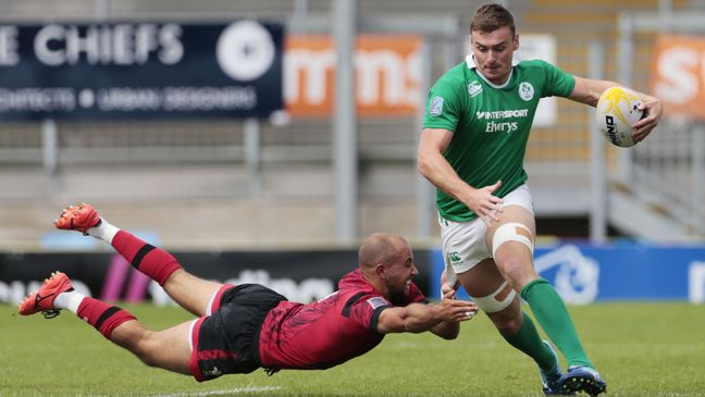 John O'Donnell in Sevens action for Ireland