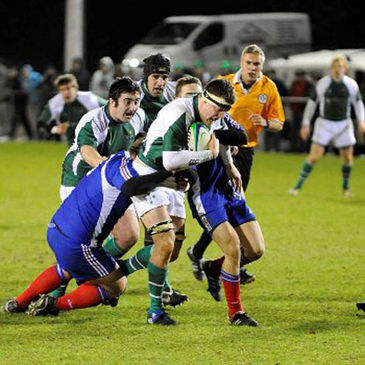 The Irish Colleges side on the attack against France
