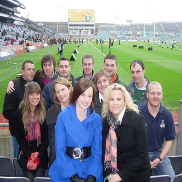 The Tallaght Tag players at Croke Park