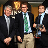 Pictured alongside Roddy Guiney are Rhys Ruddock and Brendan Macken who represented the Ireland Under-20s, the Team of the Year award winners