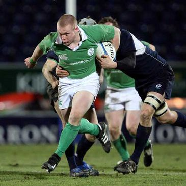 Keith Earls on the attack for the Ireland Under-20s against Scotland
