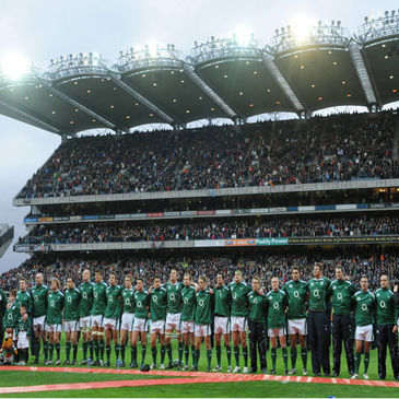 Ireland line up at Croke Park