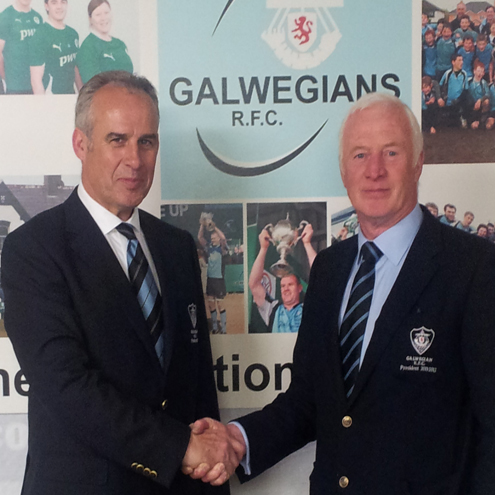 Galwegians' Colm O'Donnellan and Noel Leader