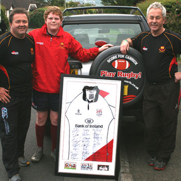 Carrick prop Rory Magill was picked out as the winner of the signed Ulster jersey