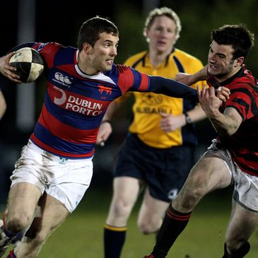 Clontarf won the Leinster leg of the IRFU Club Sevens 2012 at De La Salle Palmerston