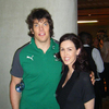 Lorraine also won a pair of invites to the official IRFU post-match Team Reception in the stadium afterwards. This is where one would bump into the likes of Donncha O'Callaghan...
