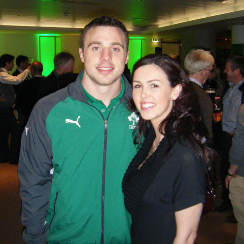 Lorraine Meaney got to meet amongst others, two-try hero Tommy Bowe