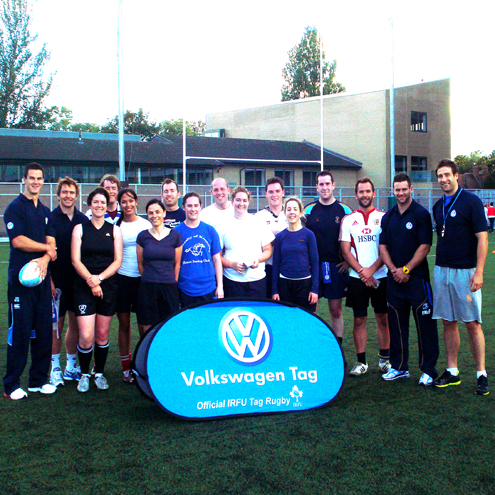 In Pics: VW Tag Team Training with Irish Internationals