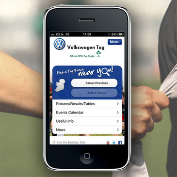 Brand new IRFU Volkswagen Tag mobile app now available for iOS and Android devices