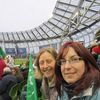 Kirsty Simpson and Julie Goudy enjoying the Ireland v Argentina game at the Aviva Stadium,