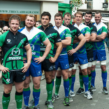 The Connacht players in the province's new kits