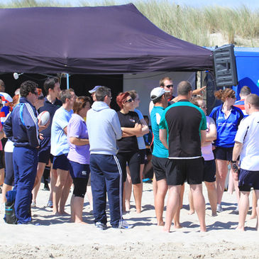 Captains briefing at Curracloe Beach in 2011