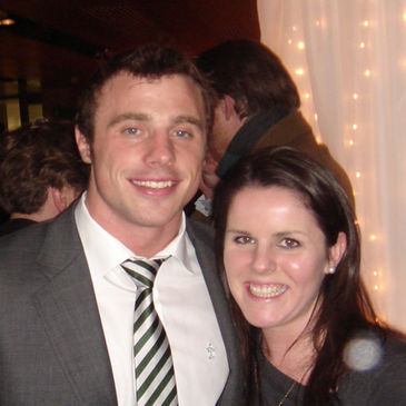 Brenda Carroll met up with Ireland winger, Tommy Bowe