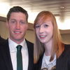 Michelle with record points scorer for Ireland, Ronan O'Gara