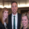 Last and most certainly not least, Tommy Bowe poses for a photo with Michelle and Helen