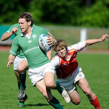 Darren Cave in action for the Ireland Sevens side in Odense