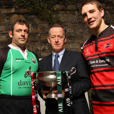 City of Derry's Bob McKillop, Maurice Crowley of AIB and Armagh's James Morton