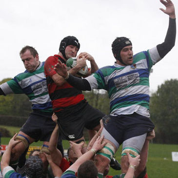 Lineout action from the recent Rainey v Suttonians game