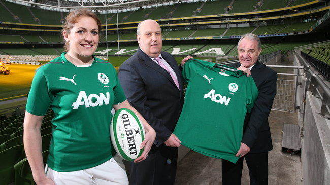 Fiona Coghlan, Colum Diamond of Aon and Pat Fitzgerald