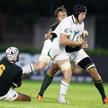 Ireland's Aaron Conneely in action against South Africa