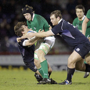Aaron Conneely in action against the Scotland U-20s
