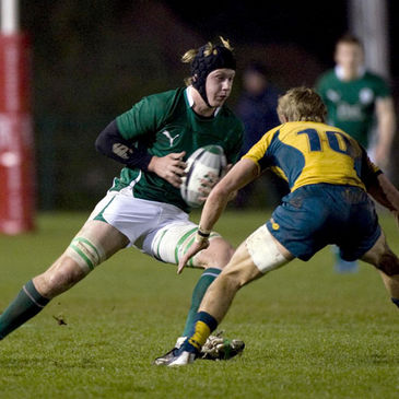 Flanker Aaron Conneely in action for the Ireland Under-19s